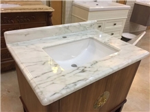 Emerald White Marble Vanity Tops
