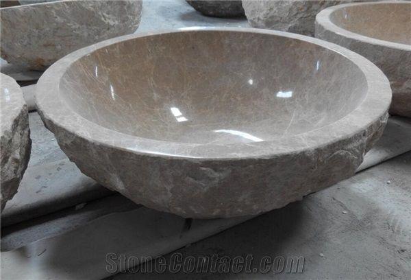 Emperador Light Beige Marble Round