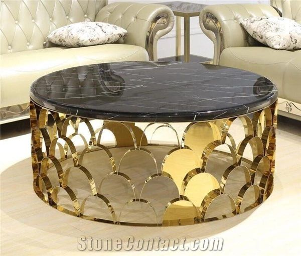 Nero Black Marquina Marble Table Tops,Reception Desk,Coffee Table
