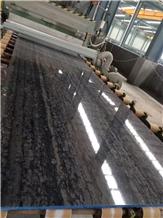 Santorini Blue Black Lllusion Matrix Grey Marble Slab,Wall Floor Tiles
