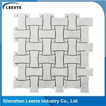 Bianco Carrara Polished Dogbone Mosaic Tiles