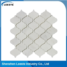 Danby White Marble Polished Arabesque Mosaic Tile