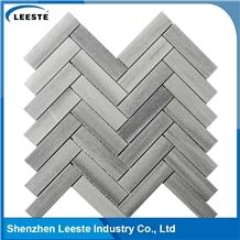 Manufacturing Marmara Herringbone Honed Marble Mosaic