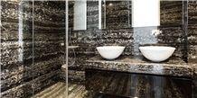 Nero Portoro Marble Bathroom Design