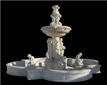 Fountain Sculpture Marble Hand Cared