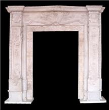 Hand Carved Door Surrounds, Natural Stone Sculptured Door Arch
