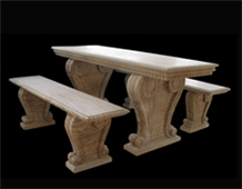 Marble Handcarved Bench &Table, Western Style Outdoor Tables