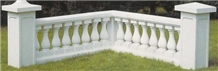 White Marble Balustrade&Railing, Handcarved Western Marble Railings