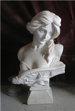 White Marble Bust ,Western Style Stone Sculpture