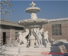 White Marble Fountain Garden Fountain