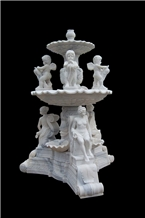 White Marble Hand Carved Sculpture Western Style Outdoor Garden