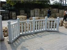 White Marble Handcarved Garden Balustrade, Western Sculptured Rallings
