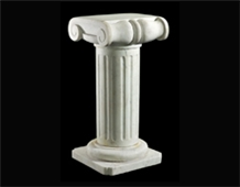 White Marble Western Style Sculptured Stone Column Building Pillars