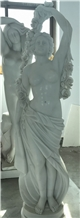 White Marble Woman Statues,Garden Art Sculpture