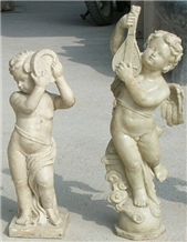 China Marble Stone Carvings Customized Statues Animal and Angle Sculptures