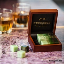 Nephrite Jade Cubes for Whiskey, Nephritis Cubes