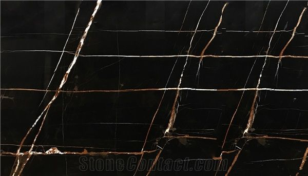 Sahara Noir Black Marble Slabs Tiles Tunisia Black Marble