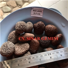 Natural Red Lava Stone Pebbles