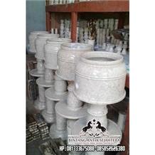 Ipoh Marble Garden Lantern, Marble Landscaping Lamps