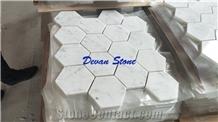 Carrara White Marble Hexagon Mosaic