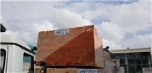 Yozgat Red Travertine Raw Blocks