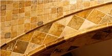 Yozgat Travertine Tumbled Wall Tiles, Travertine Wall Installation