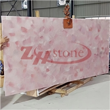 Pink Crystal Rose Crystal Quartzite Slab