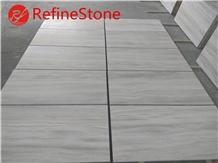 Polished White Wooden Marble Floor Tile 120x60cm