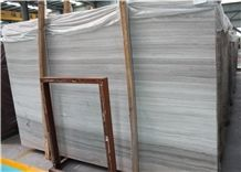 White Wood Grain Marble Beige Marble Polished Floor Tile