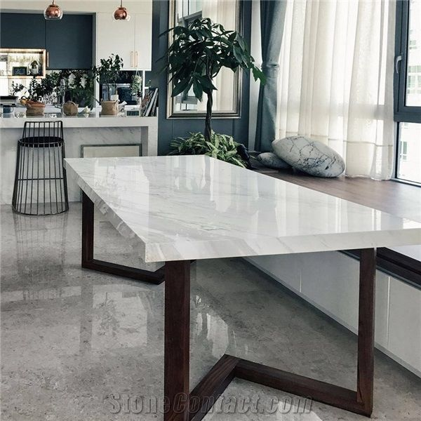 Volakas White Table Top Featuring Marble Dining Table Top From China Stonecontact Com