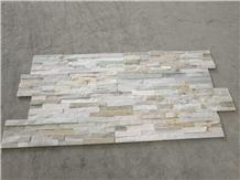 China Yellow Quartzite Culture Stone Veneer Wall Cladding Decor Natural