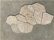 G682 Sunset Gold Granite Crazy Flamed Pavers Walkway Patio Courtyard