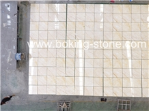 Gold Spider Marble Tiles and Slabs Beige Color Marble Dry Lay Interior