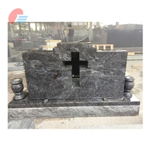 Bahama Blue Granite Cross Cutout Monument