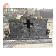 Bahama Blue Granite Cross Cutout Monument