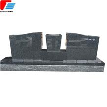 China Dark Gray Impala Slate Half Serp Monument with Plinth