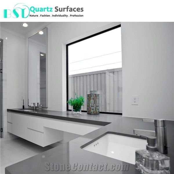 Chinese Heat Resistant Cheap Grey Quartz Countertops