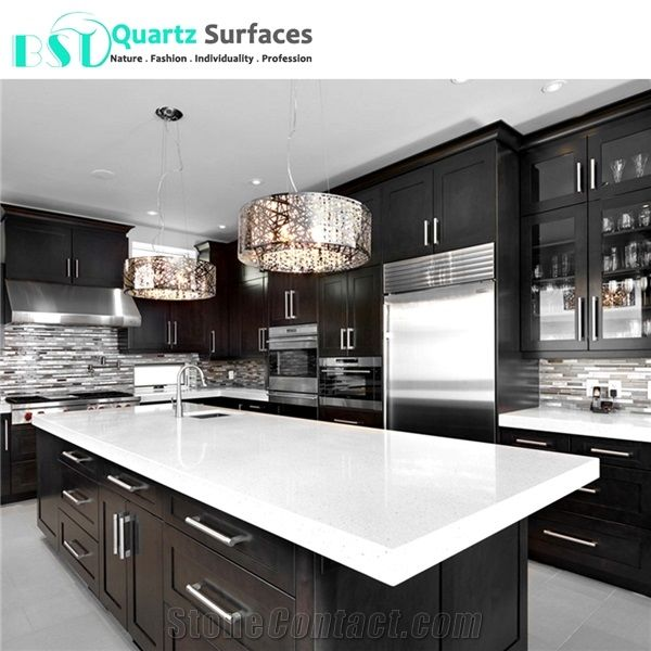 Crystal White Solid Surface Composite