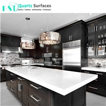 Crystal White Solid Surface Composite Quartz Countertop