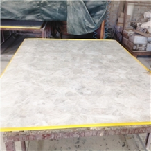 White Color Quartz Semiprecious Stone Slabs