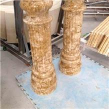 Emperor Golden Marble Polished Column Price Column Capitals Base