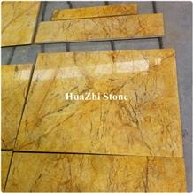 Floor Tiles Slabs Golden Goose Feather Yellow River Beige Gold Marble