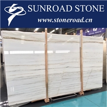 Landscape White Jade, Vein Cut Slabs,China Landscape Wood Jade Marble