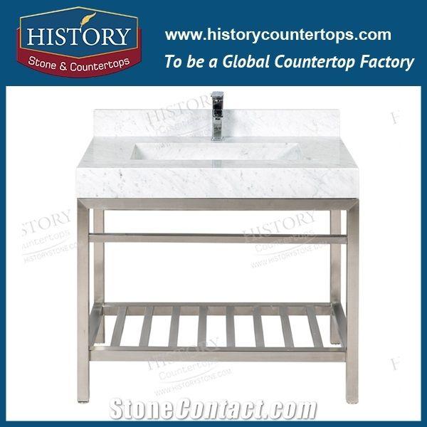 Nmj010 Bianco Carrara Modern Bathroom Vanity Menards Hotel Kit