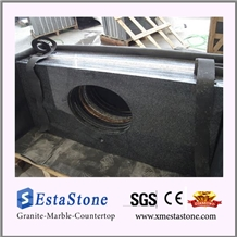 China Impala Dark Grey G654 Granite Bathroom Vanity Top with Sink Cut