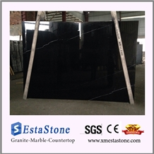 Chinese Natural Black & White Nero Marquina Marble Slabs
