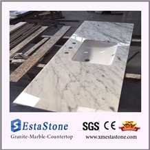 High Polshed Bianco Carrara White Countertops & Vanity Tops