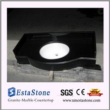 Hotsales China Shanxi Black Granite Vanity Top for Washroom