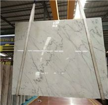 China White Marble Slabs with Grey Vein for Countertop
