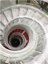 Fantastic Greece Volakas White Marble Stairs